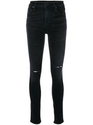 Citizens Of Humanity Classic Fitted Jeans Women Cotton Polyester Spandex Elastane 24 Black