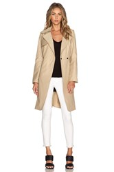Milly Waterproof Trench Coat Tan