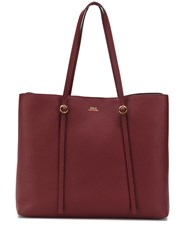 Polo Ralph Lauren Logo Stamp Tote Red
