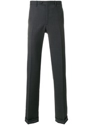 Brioni Straight Leg Trousers Grey