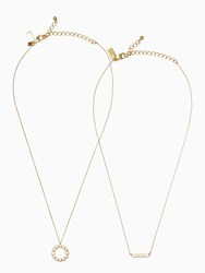 Kate Spade Full Circle Pendant Set Clear Gold