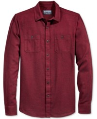 American Rag Men's Flannel Shirt Only At Macy's Deep Ruby