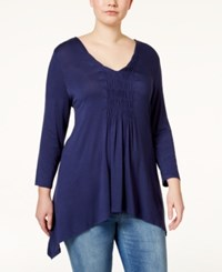 American Rag Plus Size Solid Cinch Front Top Only At Macy's Indigo