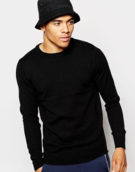 New Look Crew Neck Jumper Black