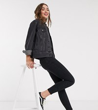 New Look Petite Lift And Shape Skinny Jean In Black