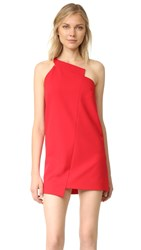 Michelle Mason One Shoulder Dress Red