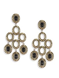John Hardy Dot Black Onyx And 18K Yellow Gold Chandelier Earrings