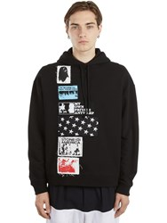 Raf Simons Cotton Jersey Hoodie W Patches Black