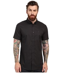 Rvca That'll Do Oxford Short Sleeve Woven Pirate Black Men's Short Sleeve Button Up