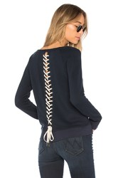 Pam And Gela Lace Up Sweatshirt Navy