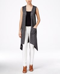 G.H. Bass And Co. Heathered High Low Vest Black Combo
