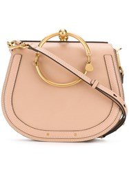 Chloe Nile Bag Calf Leather Calf Suede Nude Neutrals