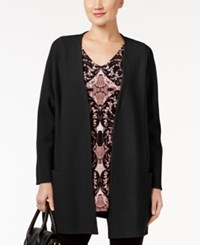 Alfani Sweater Coat Only At Macy's Deep Black