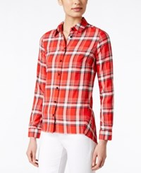 G.H. Bass And Co. Plaid Shirt Only At Macy's Cherry Tomato