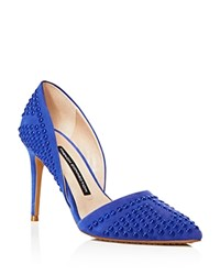 French Connection Pumps Ellis Studded Pointed Toe Empire Blue