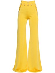 Balmain High Waisted Flared Pants
