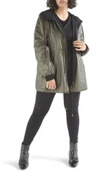 Elvi Plus Size Women's Parka Jacket Khaki