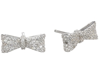 King Baby Studio Bow Post Earring Pave Cz