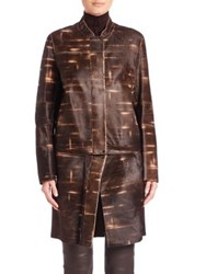 Akris Goslin Convertible Calf Hair Coat Date