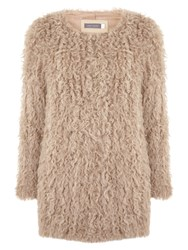 Mint Velvet Shearling Coat Camel