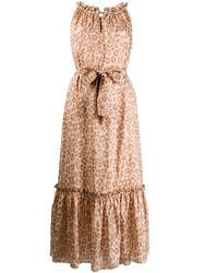 Zimmermann Leopard Print Silk Dress 60