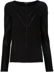 Tess Giberson Pointelle Sweater Black