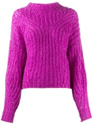 Isabel Marant Chunky Knit Sweater Purple