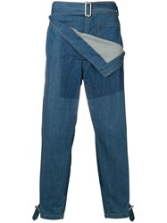 J.W.Anderson Jw Anderson Belted Denim Trousers Blue
