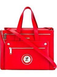 Versus Large Lion Head Double Zip Tote Red