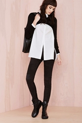 Nasty Gal Hell On Heels Moto Leggings