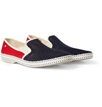 Rivieras Cotton Mesh And Canvas Espadrilles Red