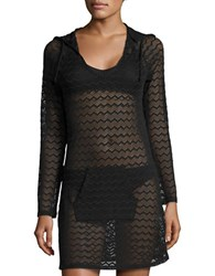 Prana Luiza Knit Cover Up Solid Black