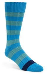 Men's Paul Smith 'Kennedy' Knit Socks Blue Aqua Blue