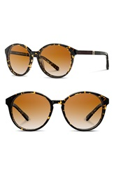 Shwood 'Bailey' 53Mm Polarized Sunglasses Speckle Ebony Brown Polar