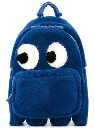 Anya Hindmarch 'Eyes' Large Backpack Blue