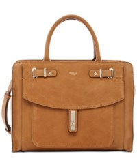 Guess Kingsley Satchel Cognac