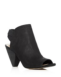 Vince Camuto Edora Open Toe High Booties Black