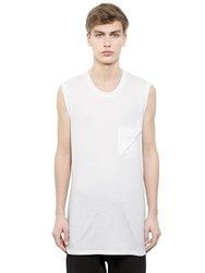 Alexandre Plokhov Sleeveless Cotton And Modal Jersey T Shirt