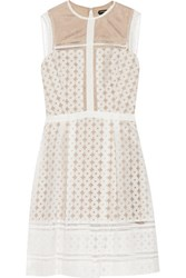 Catherine Deane Feya Embroidered Organza Mini Dress White