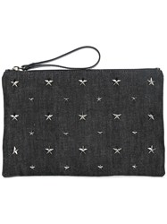 Red Valentino Star Studded Clutch Grey