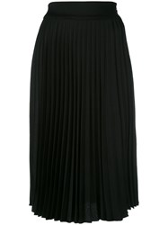 Christian Dior Vintage Pleated Skirt Black
