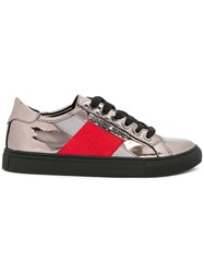 Armani Jeans Metallic Grey Sneakers