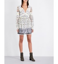 Free People Cherry Blossom Lace Dress Ivory Combo