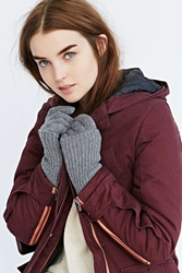 Urban Outfitters Rib Overlay Glove Grey