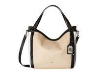 Lauren Ralph Lauren Grafton Felicity Hobo Straw White Black Hobo Handbags Beige