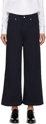 Each X Other Navy Wide Leg Jeans