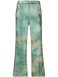 F.R.S For Restless Sleepers Straight Printed Trousers Blue