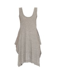 Yohji Yamamoto Regulation Longer Back Cotton Jersey Tank Top Grey