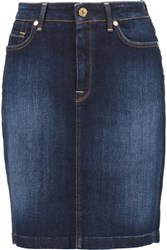 7 For All Mankind Denim Mini Skirt Dark Denim
