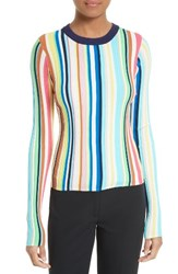 Milly Women's Vertical Stripe Knit Pullover